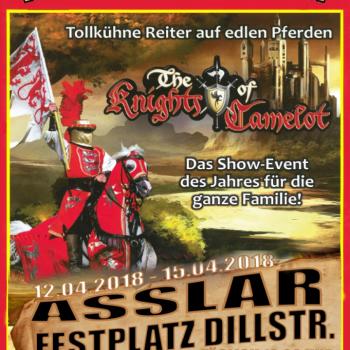 Das Ritter-Turnier kommt mit Edlen Pferden nach  Asslar auf den Festplatz an der Dillstr. - Verlängerung auch am 21. und 22.04. vor Ort