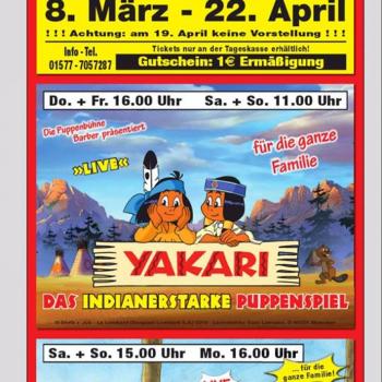 Barber's Puppentheater verzaubert vom 8.3.-22.4.2019 Klein und Groß in Frankfurt/Main